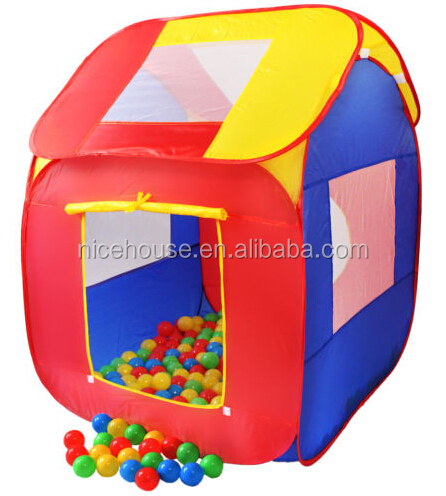 Pop up kids tent play house child play tent with 200pc balls