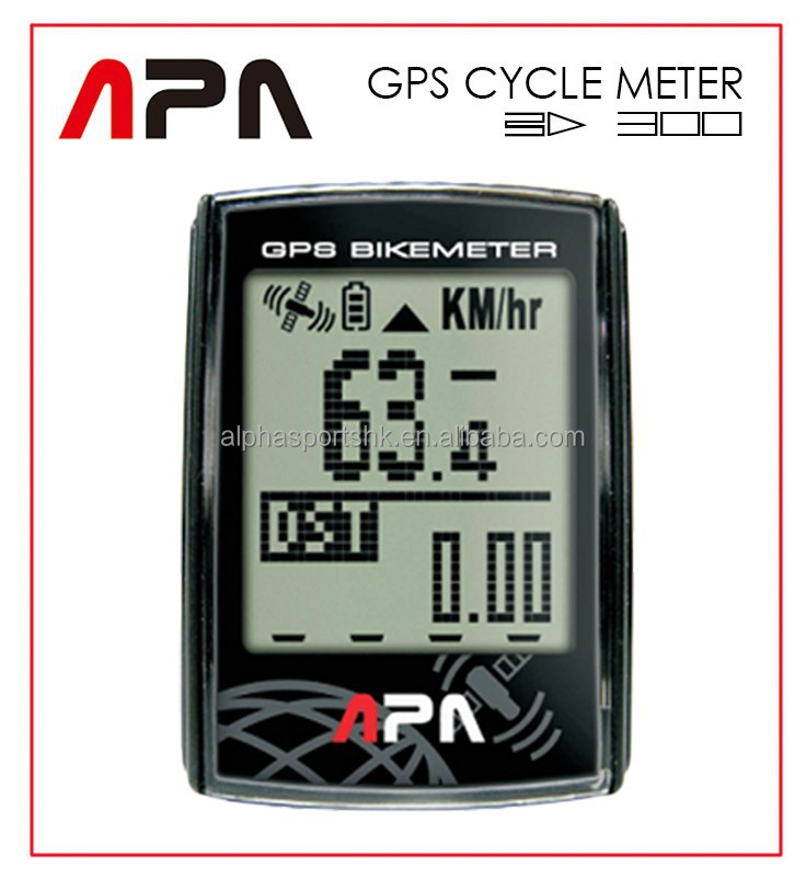 Alpha Sports Alphasports APA BD300 GPS Cycle Computer GPS Speed Altitude Chronograph Heart Rate LED Bikemeter Cycle computer