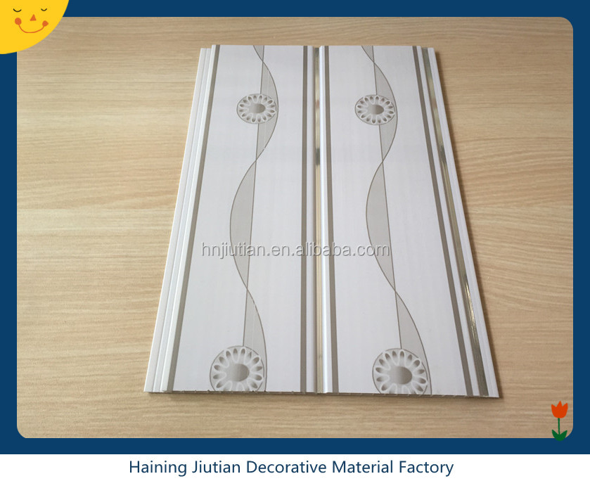 Ceiling tiles 20CM Middle Stripe plastic waterproof showroom pvc ceiling Kenya