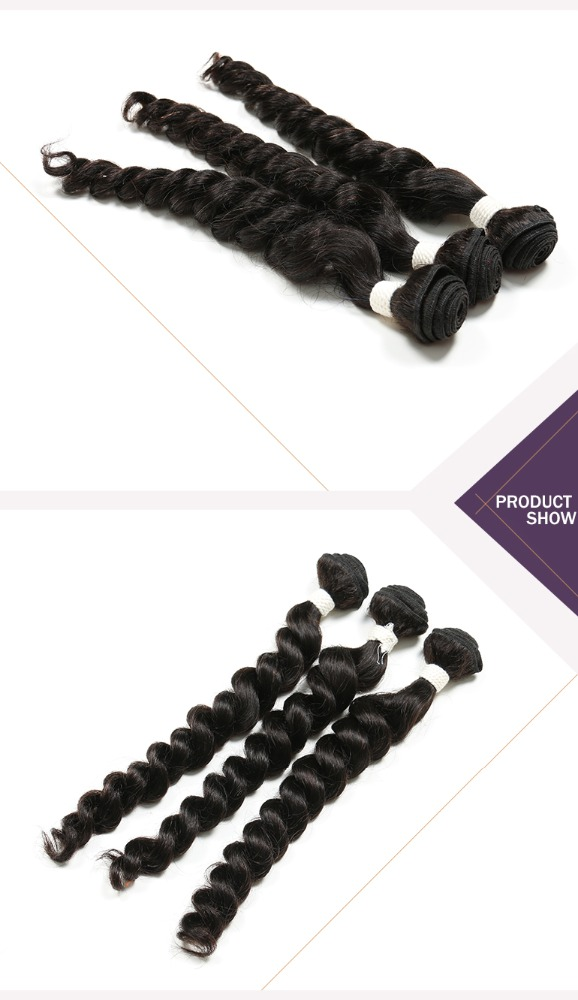 Top Quality 8A Grade french wave Natural Color Unprocessed Brazilian/Peruvian/Indian Virgin Humain Hair Extensions
