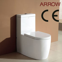 CE approved european bathroom ceramic sanitary ware one piece siphonic recliner toilet