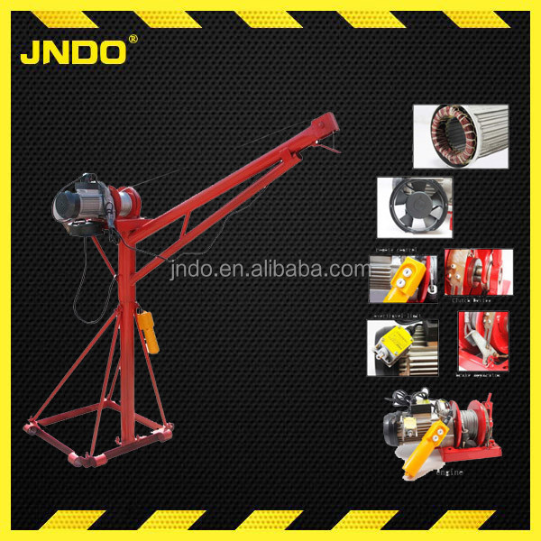 480kg portable pickup lift crane with electric winch