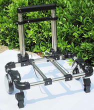 Mini portable folding shopping cart,Small foldable shopping cart trolley,Telescopic handle folded luggage trolleys