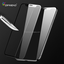 2018 New Design 9h 3d asahi full cover tempered glass screen protector for iphone x with easy install tool
