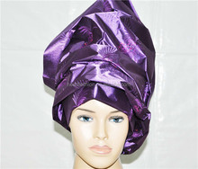 2014 reasonable in price sequins headtie for wedding / gele headtie/ fashion headtie