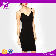 Summer Hot Sale Women New Spaghetti Strap Sexy Short Black Clothes