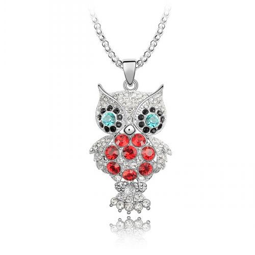 Fashionable Great Quality Rhinestone Personalized Pendant Owl Necklace