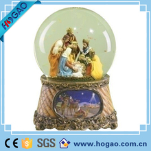 Musical Three Kings Nativity Scene Religious Christmas Snow Globe Music