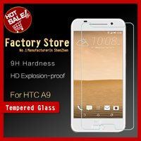Factory store 9H 2.5D 0.33 0.26mm mobile phone Japan Asahi Tempered Glass screen protector for HTC One A9