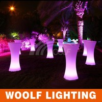 hot selling bright colored led modern lift top end table