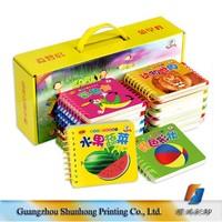 Guangzhou Factory Cheap Custom Kids Leaning Cards Spiral Binding Printing Children Board Book Wholesale