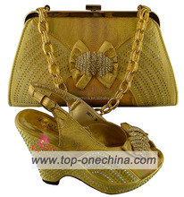Wholsale price italian matching shoes and bags/italian shoes and bag set/italian shoes and bags to match women