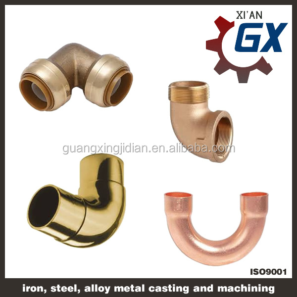 Threaded copper male plug fittings fitting adapter