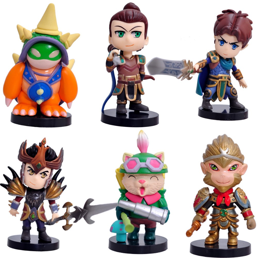 Hotselling League of Legends action figure 1st LOL 12pcs ornaments 2sets animation toys Manga with gift box birthday gift