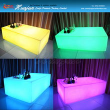 Colorful LED luminous color change wine LED ice bucket table lighting bar table