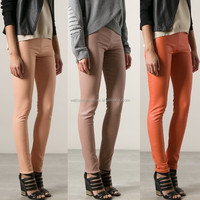 New coming Peach lamb skin skinny leather leggings, jogger pants, panama clothing for women (TW0037TR)