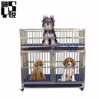 Animals hospital stainless steel foldable cheap dog wire cage for dogs