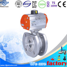 WB-66 Wafer Flanged Italy Type Pneumatic ball valve, PN16