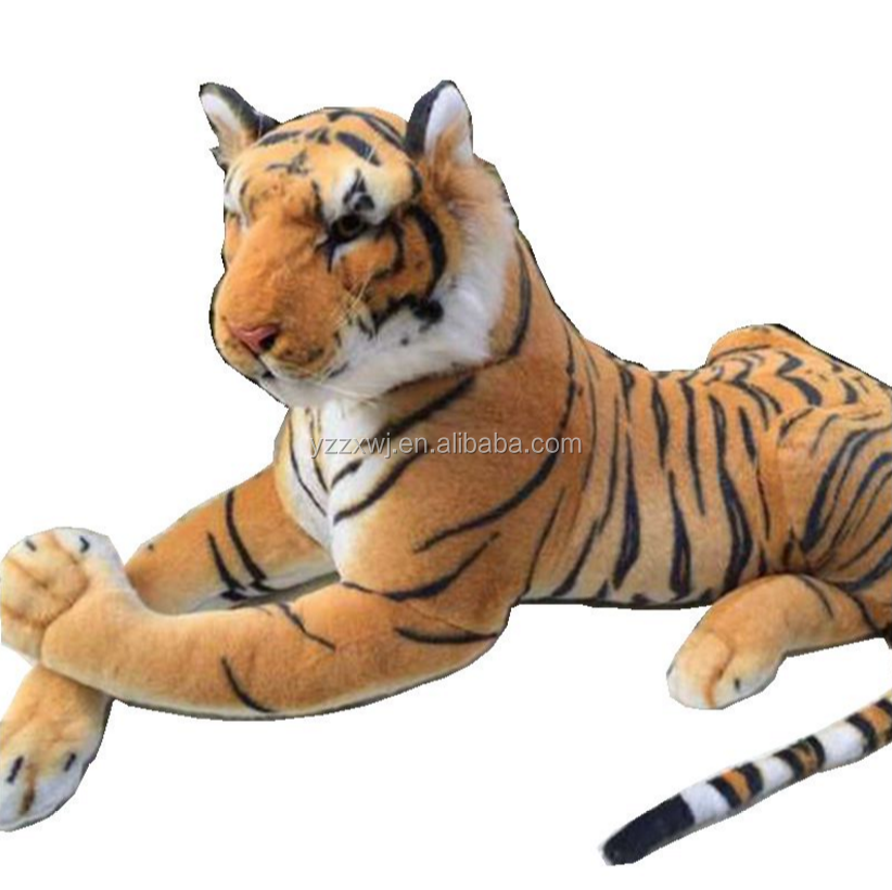 free sample plush tiger realistic plush animal toy brown tiger stuffed toy gaint stuffed soft tiger toys