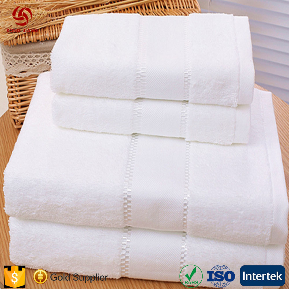 Hot Sale Microfibre Cotton Hotel Bath Towel Sets/Face Towel /Hand Towel 70*140cm*600g WHITE