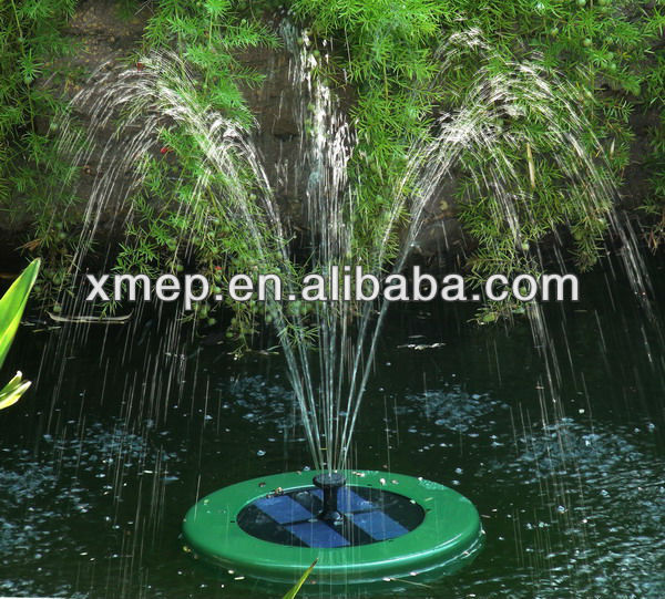 Remote Controll Solar Fountain Four Led Lights