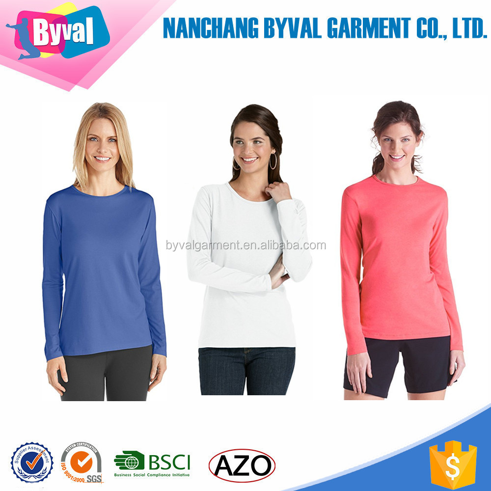 Women Bamboo t-shirts Sun Protection UPF 50+ Tee Long Sleeve t-shirt Outdoor Sports Jersey Custom Apparel Online Shopping