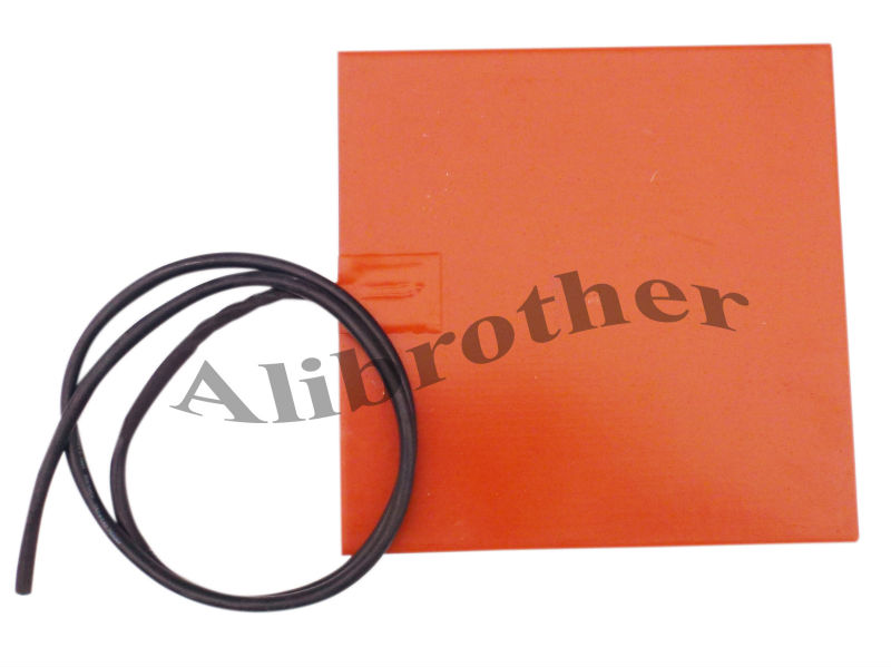 3d Printer Heated Bed Silicone Heater 200x200mm 12v 200w with Adhesive, 100k Thermmistor