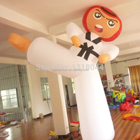 giant inflatable advertising kongfu taekwondo girl cartoon for sale