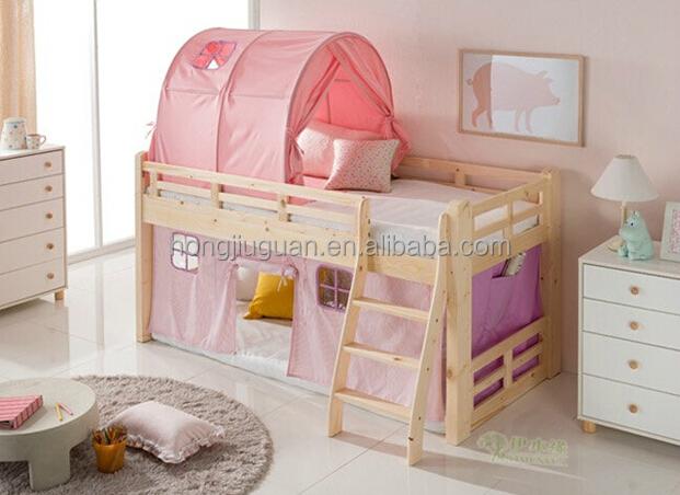 Loft bed voor kinderen houten bed junior houten half hoogslaper bedden product id 60160905829 - Nachtkastje voor loftbed ...