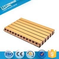 Auditorium Soundproofing Decorative Wooden Grooved Interior Wall Acoustical Block