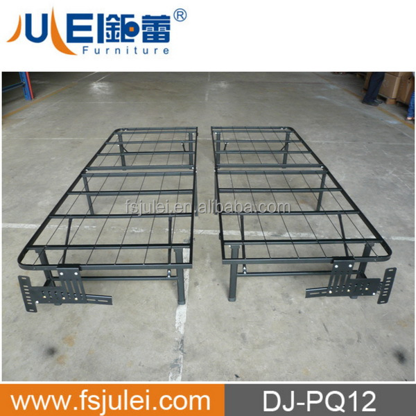 modern new design black paint steel folding bed frame DJ-PQ12