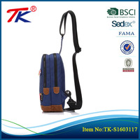 High quality canvas sling bag cheap price for school teenagers