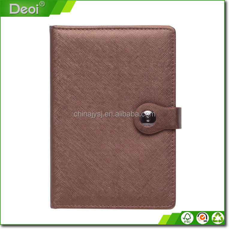 Custom Size Brown Color Western Refillable Leather Notebook