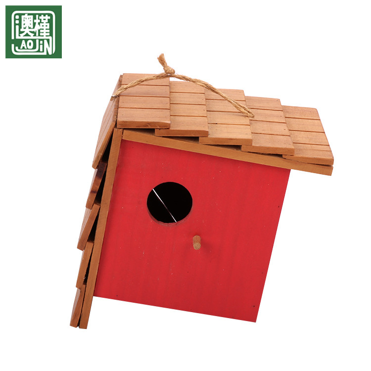 wholesale china factory direct sale wooden colored bird cage handmade decoration pieces