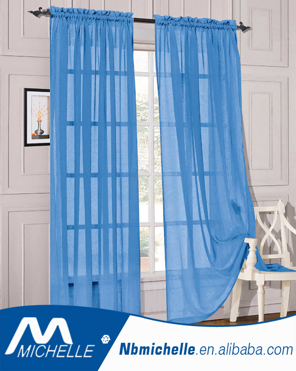 Hot sales 54X84IN Home Solid sheer curtain