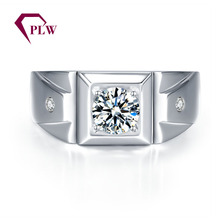 PLW0802R Forever one moissanite ring in14k white gold man wedding ring