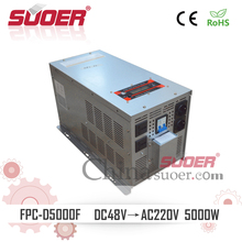 Suoer 48V to 220V 5KW High Frequency Pure Sine Wave Power Inverter for Air Conditioner