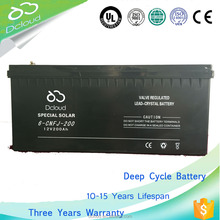 Depth of discharge 12v 200ah Excellent charge performance deep cycle battery