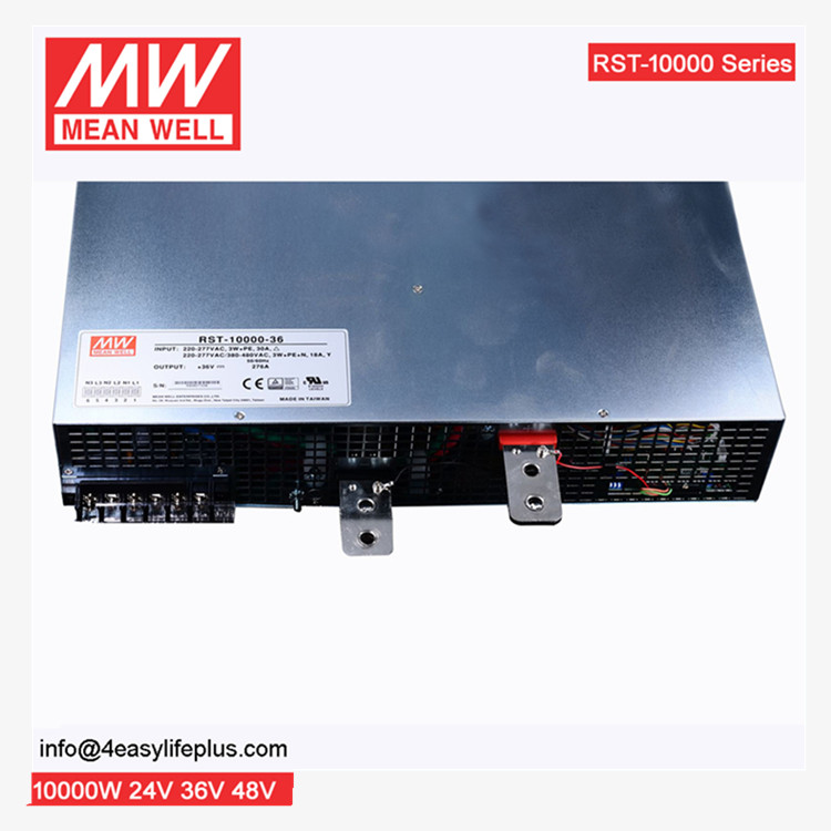 Meanwell RST-10000-24 10kW 24vdc PFC programmable high power supply 10kw