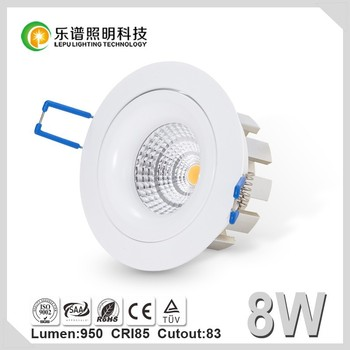 Hot Sale Factory Cutout 83mm Viking Reflector CE RoHS SSA Lamp Bulb Light CRI 85Ra CCT 2700K Dimmable Sharp COB 8W Downlight LED