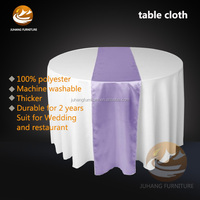 Fancy Hotel Purple Round Diamond Hand Embroidery Designs Table Cloth