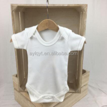 PF-MC-031 Baby white cotton romper short and long sleeves baby onesie