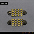 Long lifetime 24v car Interior Lamp canbus 16 smd3528 leds 12v