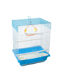 Large cheap stainless steel iron wire and plastic parrot bird cage