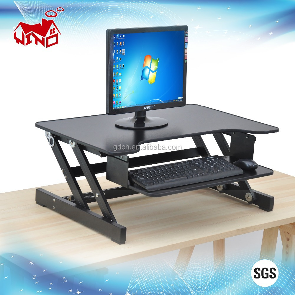Portable design stand up sit down adjustable laptop table