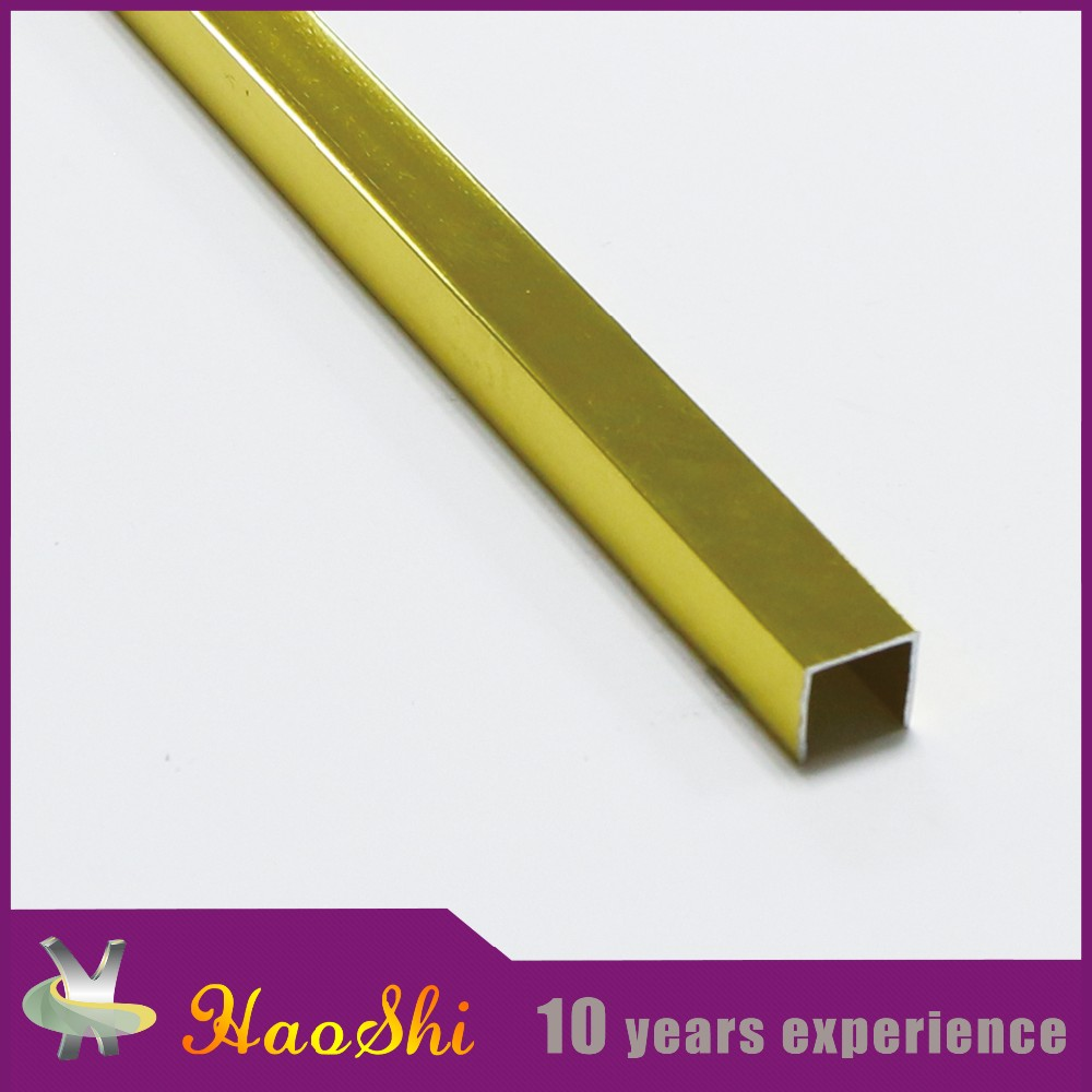 High-end office metal ornament Haoshi U shape aluminum transition strips