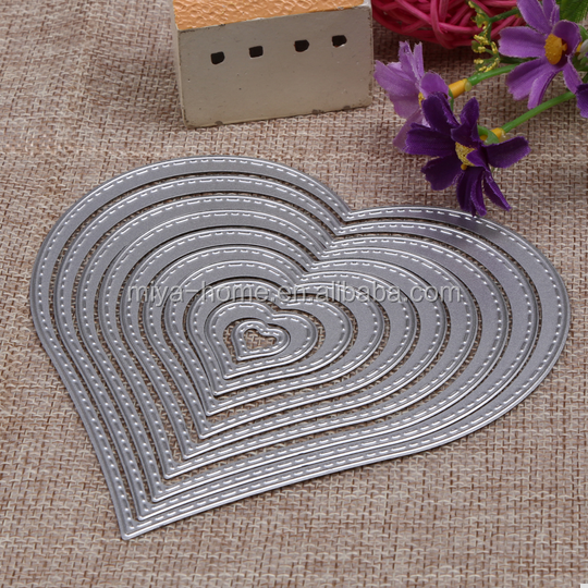 High quality Sewing Thread Stencils / DIY Scrapbooking Photo Album Decorative / Embossing Folder Die Cut