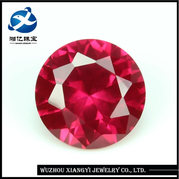 round no hole beads ruby gem stone corundum jewelry