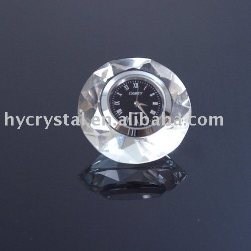 table crystal clock/crystal gifts