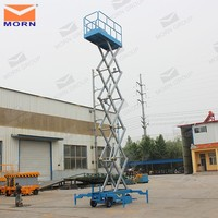 Morn Trailing mobile hydraulic scissor lift Battery lifter